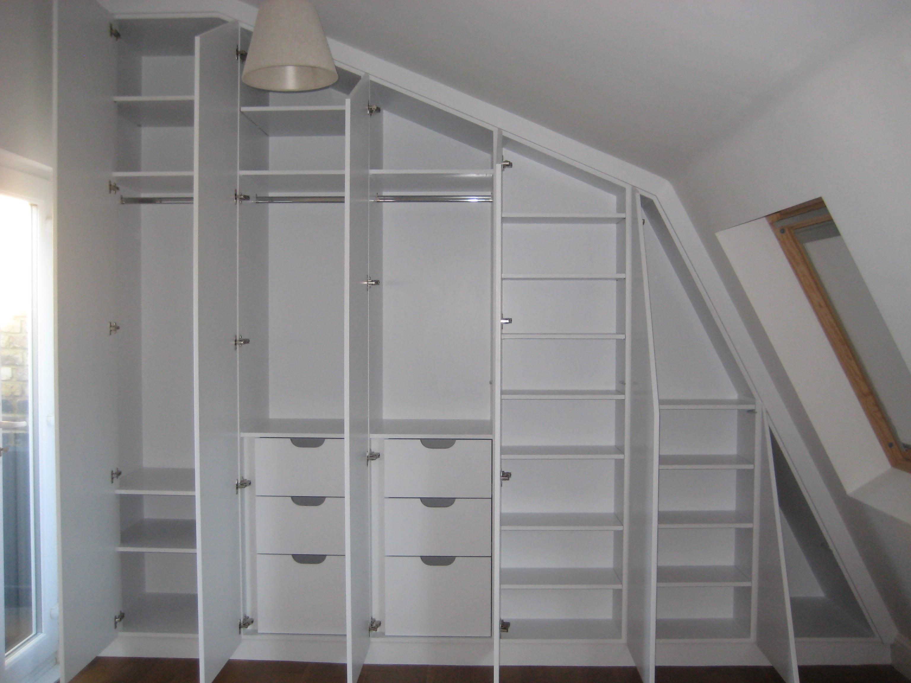 David and Holise inside of angled wardrobe